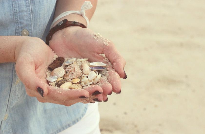 Šumore školjke na mom dlanu